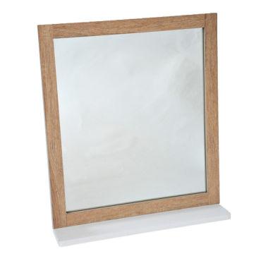Miroir de salle de bain avec languette de retour bois - Miroir articule salle de bain ...