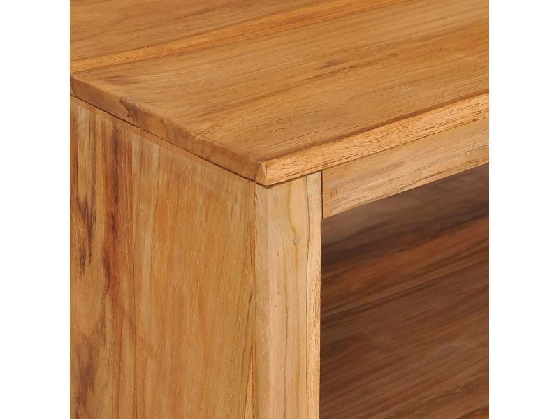 Vidaxl table basse 110x60x40 cm bois de teck massif 288895