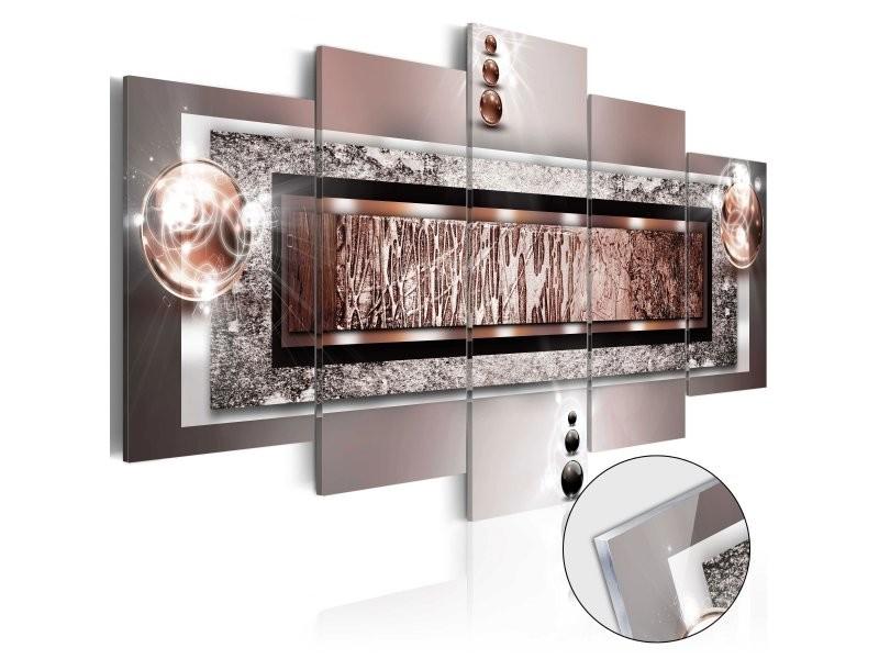 Tableaux en verre acrylique décoration murale en 5 panneaux motif rêve d'automne 100x50 cm tva110052
