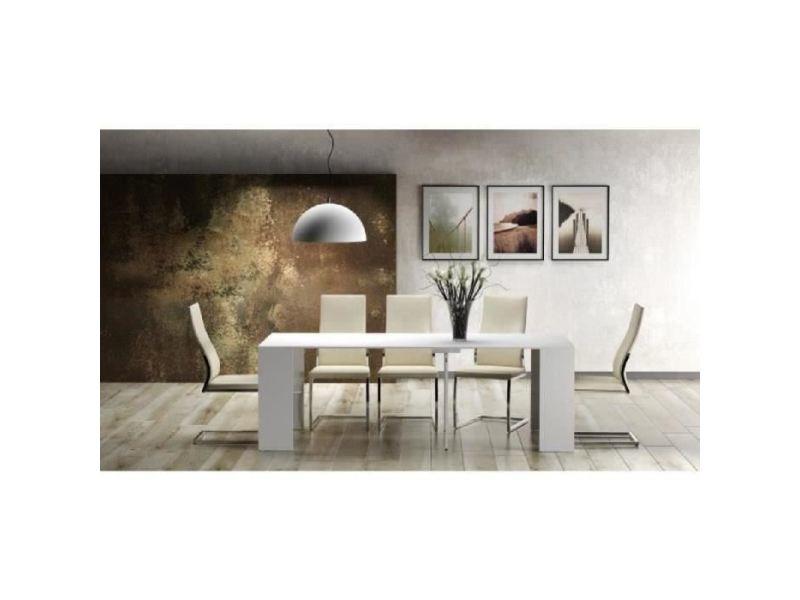 Table console - console extensible goomy console extensible style contemporain - blanc mat - l 50 a 270 cm