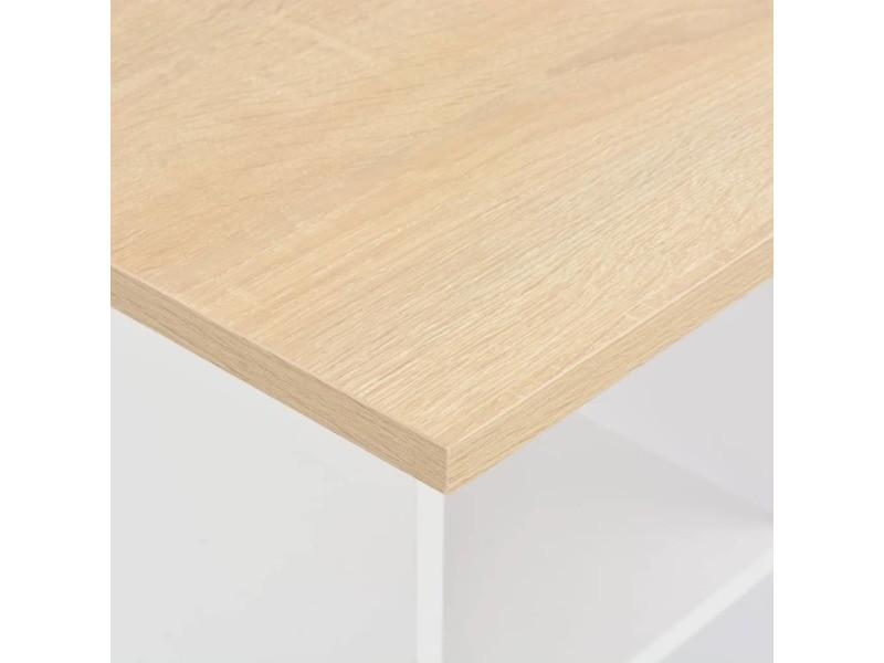 Vidaxl table de bar blanc et chêne sonoma 60x60x110 cm 280209