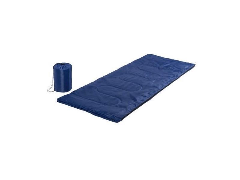 Sac de couchage avec fermeture à glissière et étui (75 x 185 cm) - camping couleur - noir