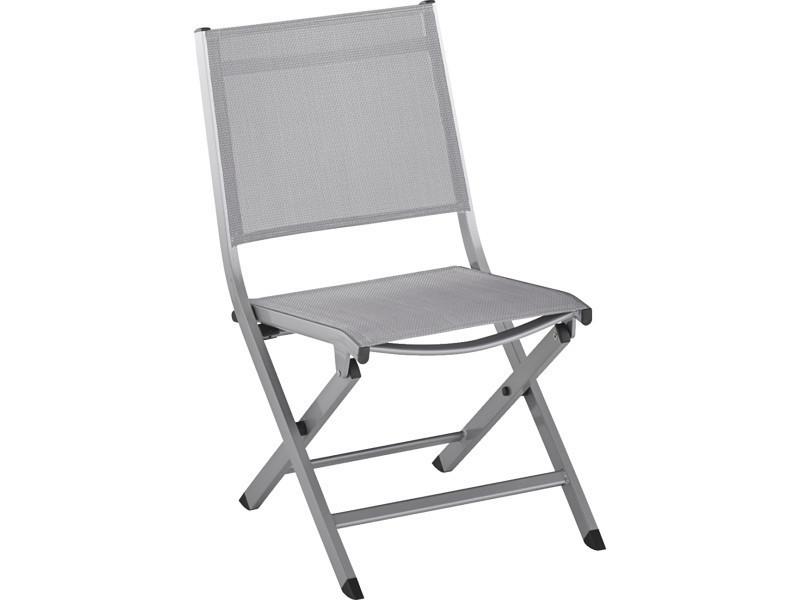 chaises jardin pliantes grises