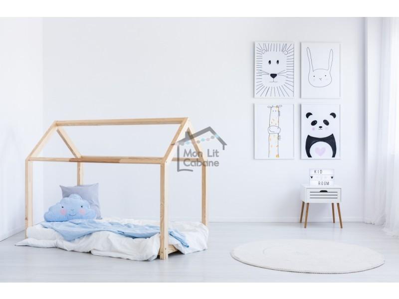 lit cabane g bois massif sommier 70x160 vente de monlitcabane conforama. Black Bedroom Furniture Sets. Home Design Ideas