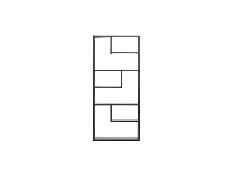 Étagère design métal noir tetris