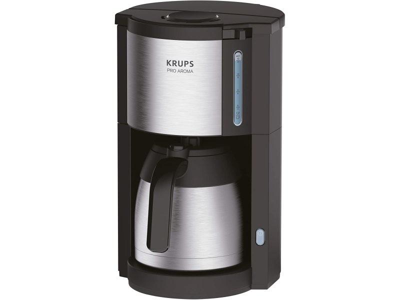 Cafetière électrique de 1,25l pour 10 a 15 tasses avec verseuse isotherme gris noir
