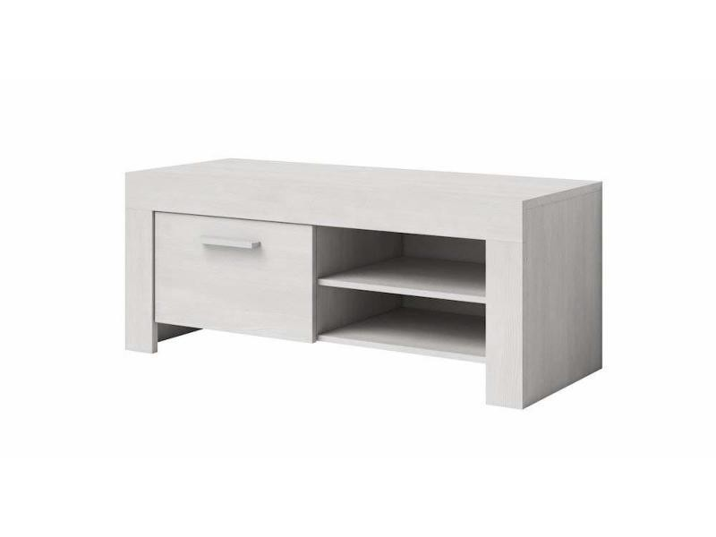 Meuble tv armoire support rome chêne blanc 120 cm …
