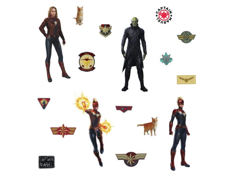 17 stickers captain marvel avengers disney