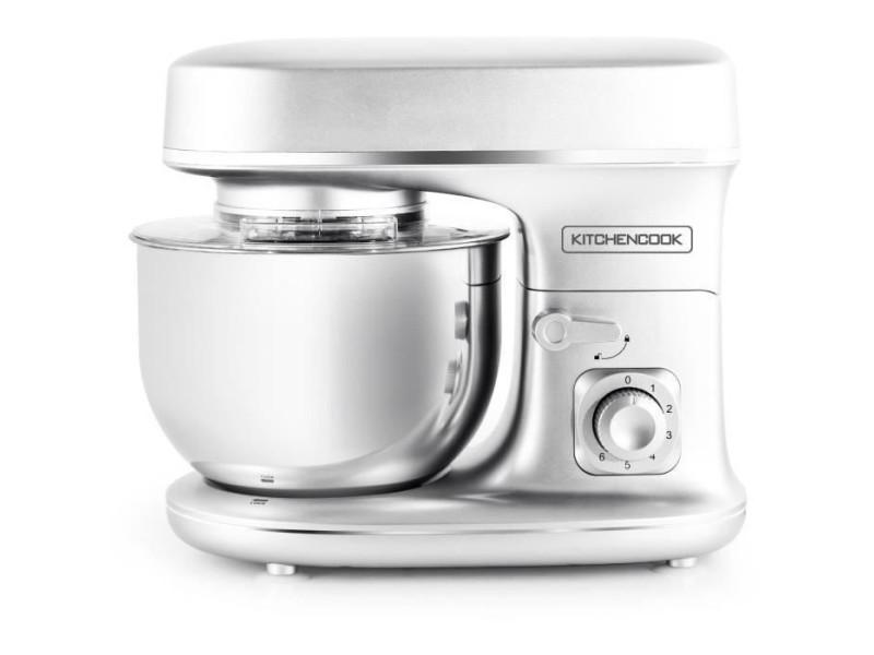 Kitchen cook robot petrin revolve silver - 1300w - bol acier inoxydable 5l - 6 vitesses - bras amovible 35? - kit patisserie