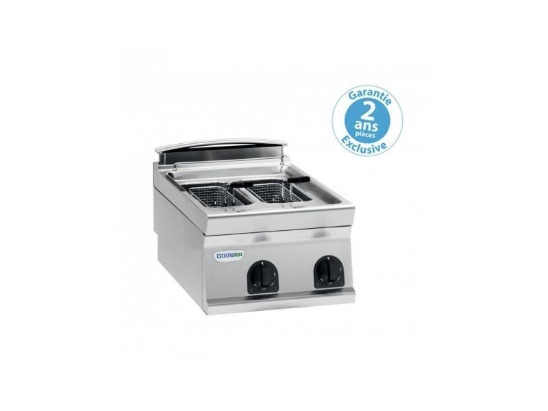 Friteuse électrique - 2 x 8 litres - commandes mécaniques - gamme 700 - tecnoinox -