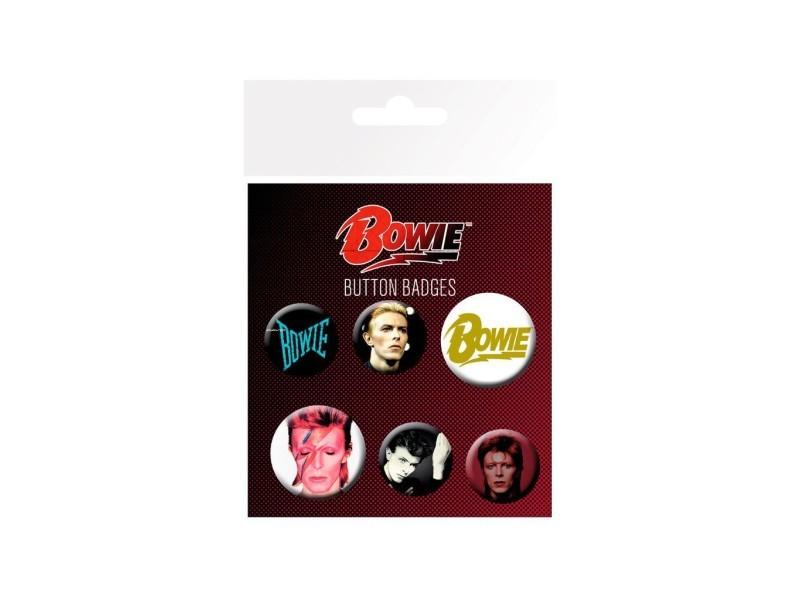 Gb eye - lot de badges mixtes david bowie mix