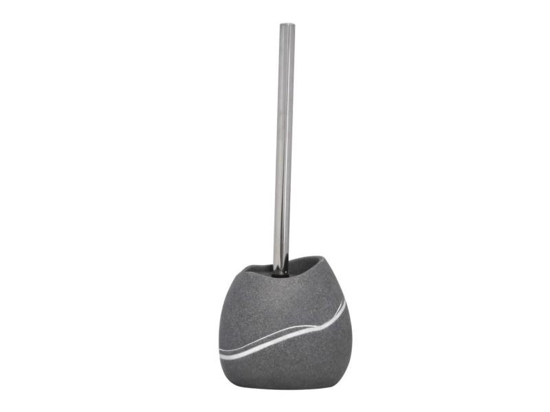 Ridder brosse de toilette et porte-brosse de toilette little rock gris 429733