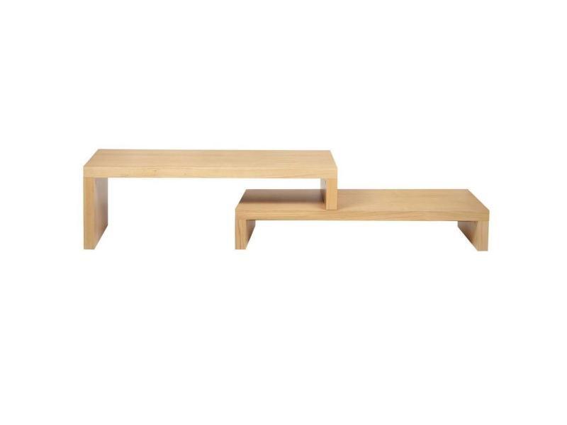 Cliff 120 meuble tv modulable en chêne 20100837459 - Conforama
