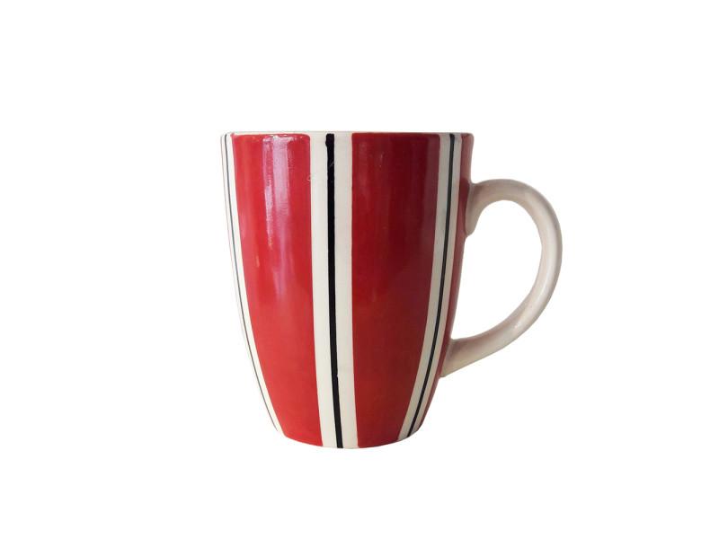 Mug b&co rayure 30 cl rouge