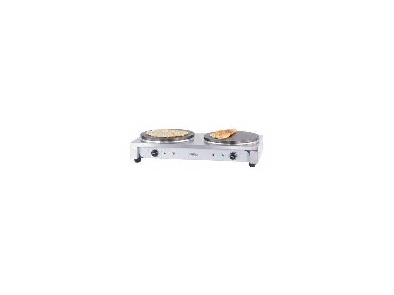 Crêpière professionnelle double électrique - l 910 x p 455 mm - casselin -