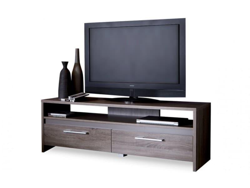 banc tv 139cm couleur ch ne fonc vente de vestiaire conforama. Black Bedroom Furniture Sets. Home Design Ideas