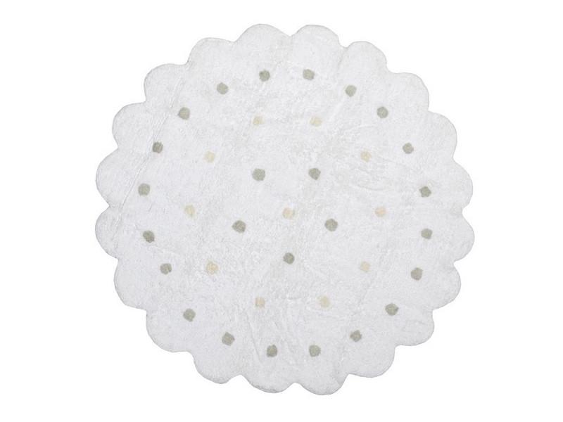 tapis enfant rond blanc galletita lorena canals blanc 140 cm c 13300 vente de tapis enfant. Black Bedroom Furniture Sets. Home Design Ideas