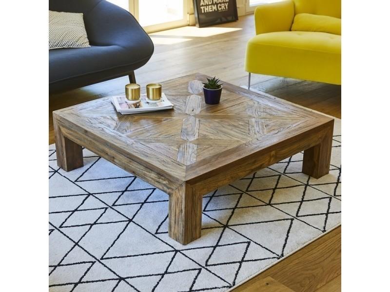 Table basse en bois de teck recyclé 100