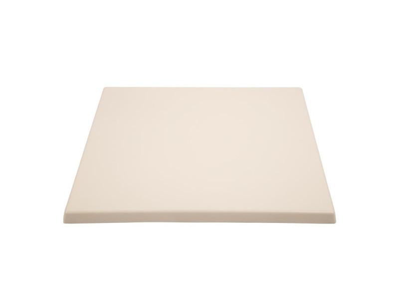 Plateau de table carré blanc 700 mm - bolero