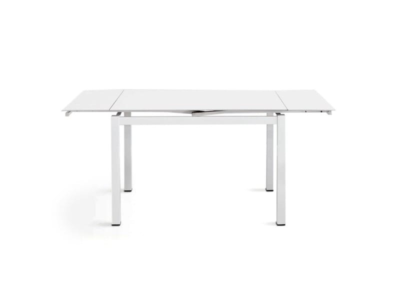 Table Extensible En Verre Trempé Pure Design Queen Blanc Conforama