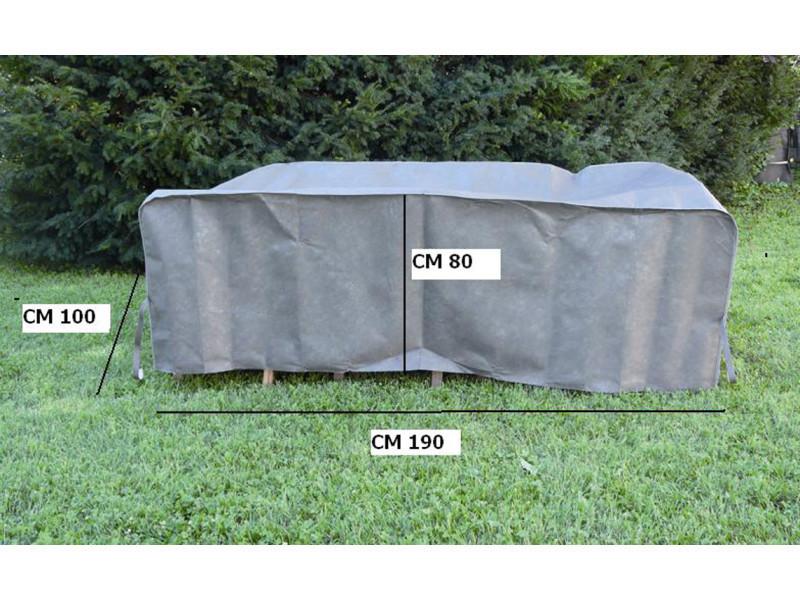 Housse table rectangulaire, 190 x 100 x 80cm -pegane-