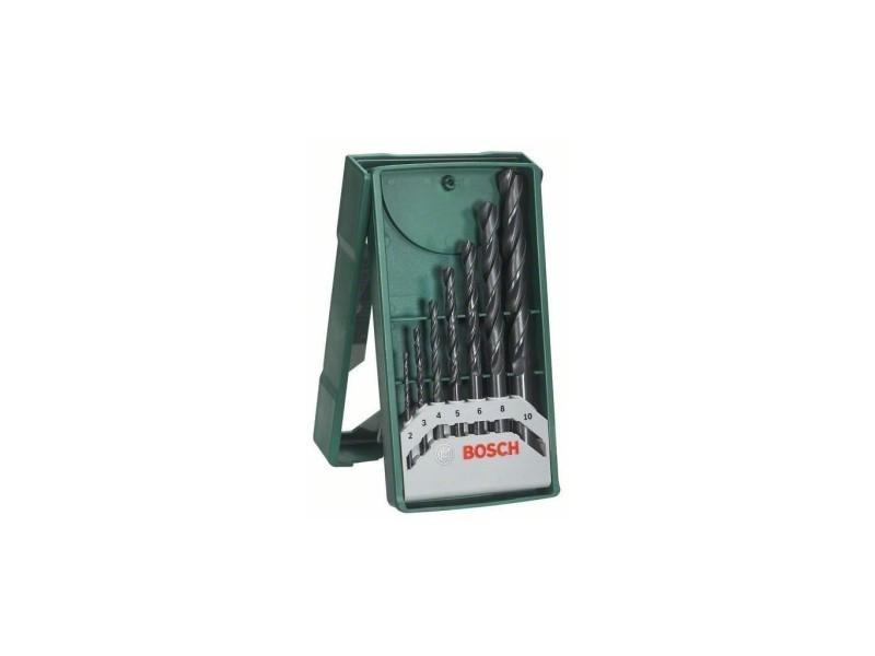 Bosch accessoires - set mini x -line 7 forets metaux 2607019673