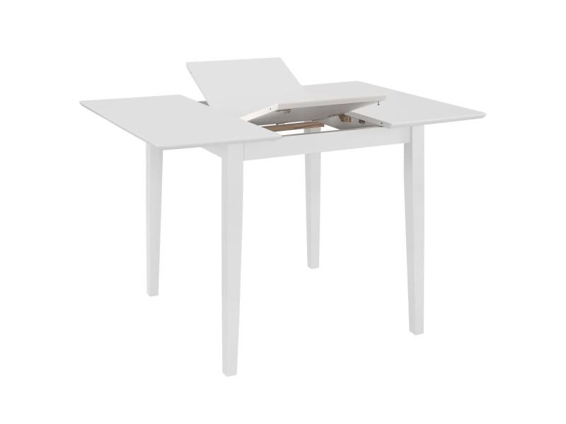 Icaverne - tables à manger serie table à dîner extensible blanc (80-120) x 80 x 74 cm mdf