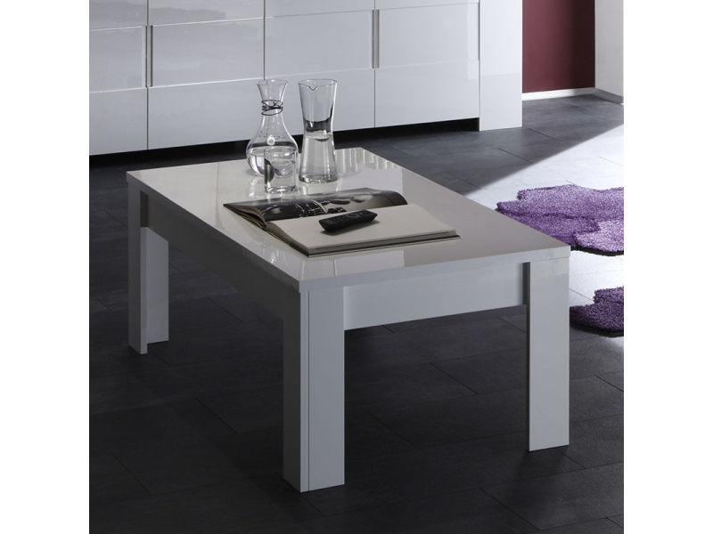 Table Basse Design Blanc Laqué Lima Vente De Nouvomeuble Conforama