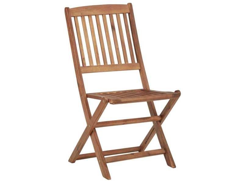 Icaverne - chaises de jardin collection chaises pliables d'extérieur 4 pcs bois d'acacia solide