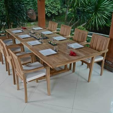 Salon de jardin en teck qualité ecograde vence, 8/10 places Teck ...