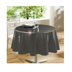 Nappe ronde 160 cm glossy anthracite