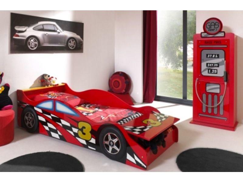 Ensemble 2 pièces pour chambre enfant avec lit voiture 70x140 cm ...