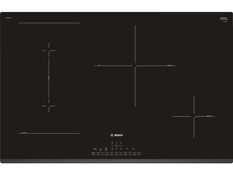 Table de cuisson à induction 80cm 4 foyers 7400w noir - pvs831fc5e pvs831fc5e