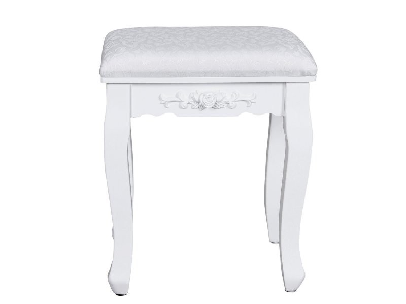 tabouret pour coiffeuse piano en bois blanc r tro helloshop26 1412002 vente de chiffonnier. Black Bedroom Furniture Sets. Home Design Ideas
