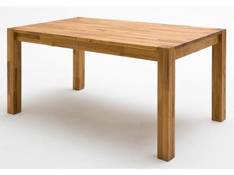 Table à manger extensible en chêne sauvage massif huilé - l.140/180/220 x h.77 x p.80 cm -pegane-
