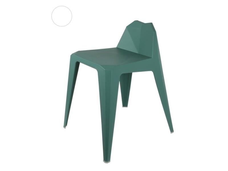 Tabouret en origami - h 61,5 cm - vert