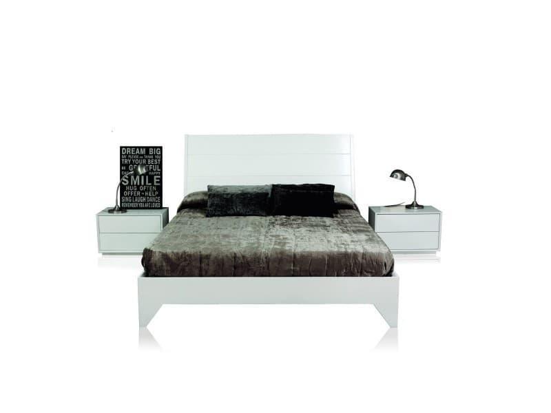 lit complet 2 chevets the one 140 cm blanc laqu io 19268 vente de lit adulte conforama. Black Bedroom Furniture Sets. Home Design Ideas