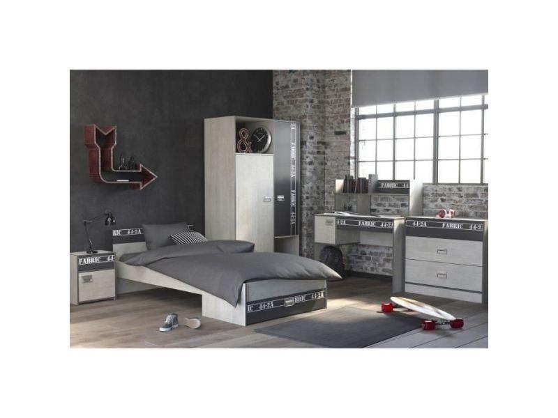 Armoire de chambre noa armoire de chambre style industriel ...