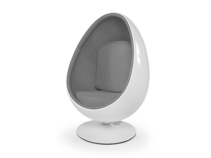 fauteuil oeuf ball pod chair blanc gris vente de ego design conforama. Black Bedroom Furniture Sets. Home Design Ideas