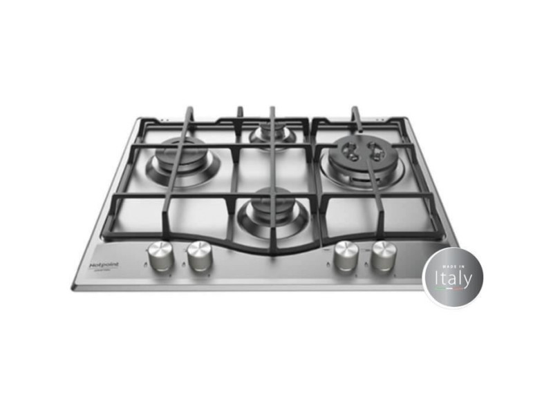 Hotpoint pnn 641 ix - table de cuisson gaz - 4 foyers - 8850 w - l 60 x p51 cm - revetement inox