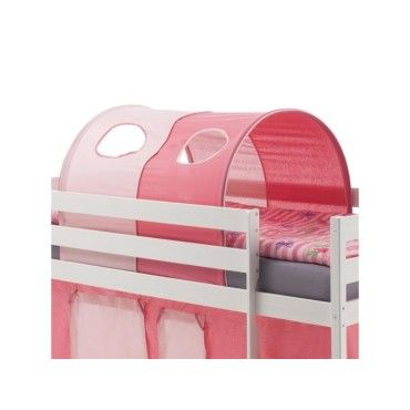 tunnel tente cabane pour lit sur lev coton rose vente de lit enfant conforama. Black Bedroom Furniture Sets. Home Design Ideas