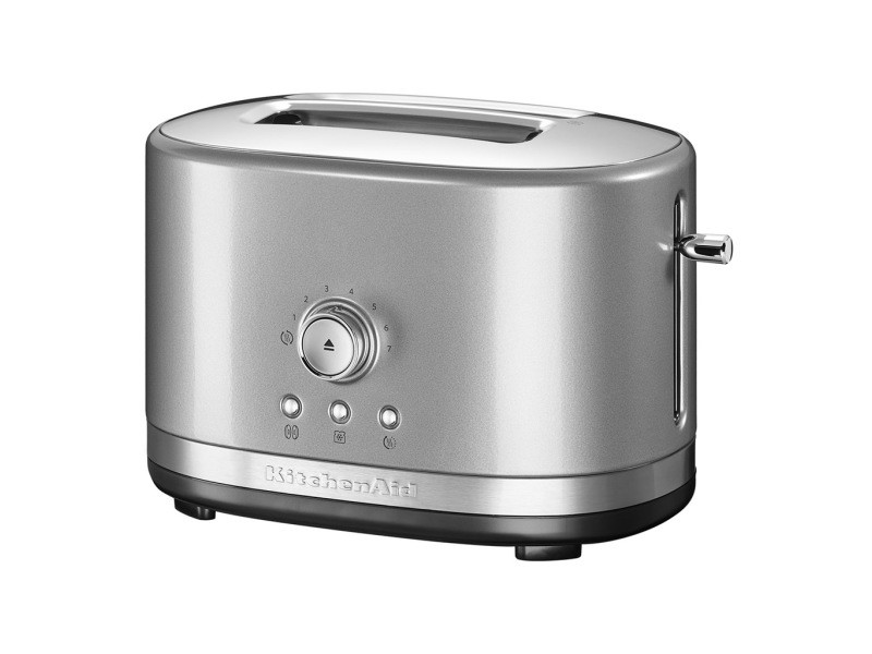 Grille pain kitchenaid 2 fentes - 1200w rétro gris argent 5kmt2116ecu