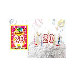 Bougies chiffres anniversaire - bougies chiffres anniversaire 20 - bougies chiffres anniversaire 20