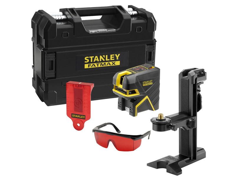Stanley - niveau laser croix + 2 points portée point 30 m avec accessoires - scr-p2 rouge