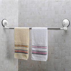 Porte-serviettes contemporain avec fixation murale en ventouses puissantes