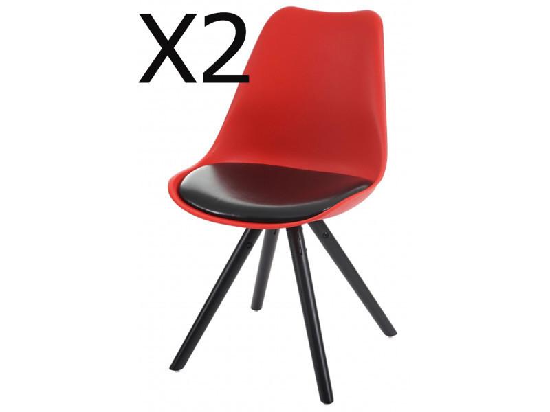Lot de 2 chaises de salle à manger en polyuréthane coloris ...