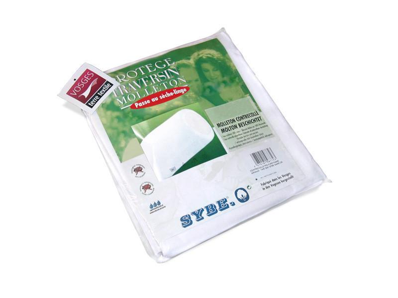 Housse de protection de traversin imperméable 220 cm arnon molleton 100% coton contrecollé polyuréthane