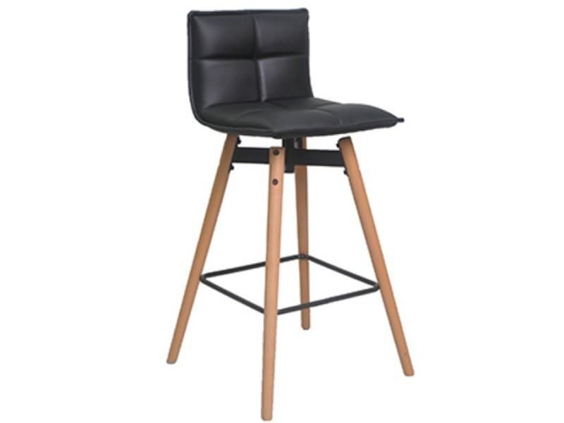 Chaise Bar Hêtre Et Coloris De Noir Dim49 Massif Polyester 5 En m8nNv0w