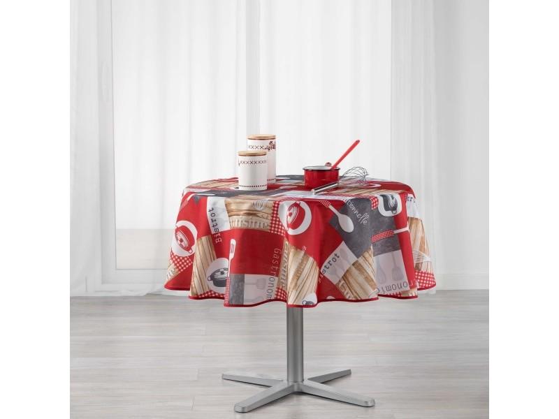 Cdaffaires Nappe Ronde 0 180 Cm Polyester Imprime Cuisine