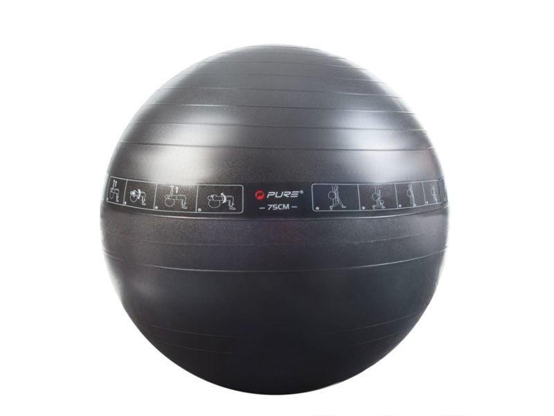 Sublime entraînement et fitness gamme rome pure2improve ballon d'exercice noir